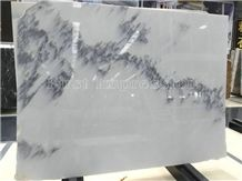 Top Quality/White Crystal Marble/Landscape Painting Marble Slabs & Tiles/Jingya White Marble/Polished Marble Wall & Floor Covering Tiles/Background Wall / White Marble With Black Flower