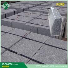G383 Granite Flamed Kerbstones Customized Variegated Granite Kerb Stone Paradies Pearl Granite Curbstone Pearl Flower Granite Side Stone Light Gray Granite Road Stone Zhaoyuan Granite Cheap Prices