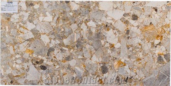 Yellow Breccia Marble, Vietnam Multicolor Marble Amd L50803