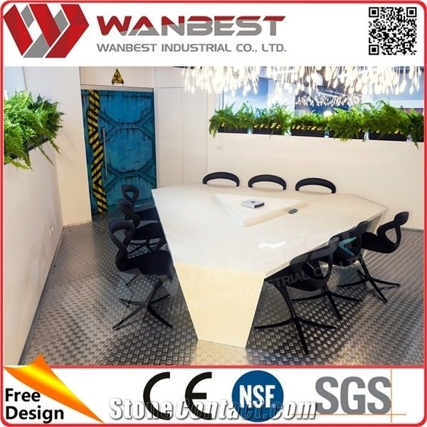Conference Table Modern Design Acrylic Solid Surface Meeting Table - Triangle conference table