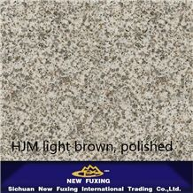 Hjm Light Brown Granite Slabs and Ties Polished