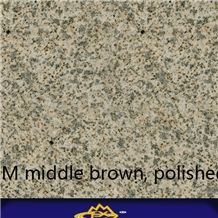 Hjm Middle Brown Granite Slabs and Tiles Polished