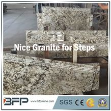 Beautiful Natural Granite Stairs/Step&Risers/Tread&Riser for Hourse Decoration