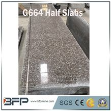 G664 Granite Slabs, Luna Pearl Granite Slabs, Luoyuan Bianbrook Brown, Black Spots Brown Granite, Copper Brown, Fu Rose Granite Slabs/Half Slabs for Kitchen Countertop