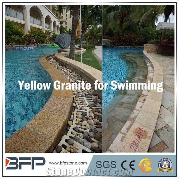G682 Yellow Granite, Chinese Rusty Granite for Swimming ...
