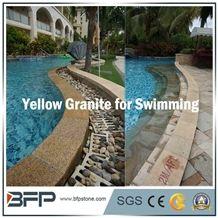 G682 Yellow Granite, Chinese Rusty Granite for Swimming Pool Paving and Coping