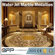 Marble Water Jet Medallion or Water Jet Pattern for Hotel Hall and Lobby