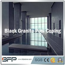 Nero Basalt, Black Basalt, Chinese Basalt Stone for Swimming Pool Coping/Pool Surrounding/Pool Paver