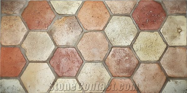 Reclaimed Terracotta Antique Tiles From Serbia Stonecontact