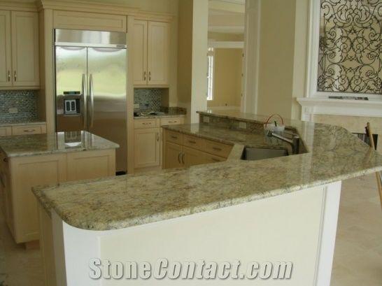 Giallo Napoleon Granite Kitchen Countertop