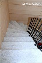 Supreme White Granite Staircase
