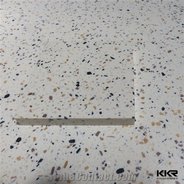 Seamless Joint 20mm Thickness Solid Surface Ocean Blue Granite