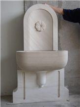 Tenelija Stone Carved Wall Mounted Fountain