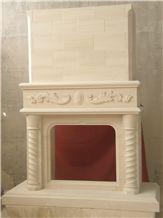 Tenelija Stone Hand Carved Fireplace
