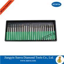 Sunva-So Diamond Mounted Points 25pcs/Set /Diamond Burrs /Diamond Tools