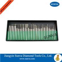 Sunva-Sp-1 Diamond Mounted Points 30pcs/Set /Diamond Burrs /Diamond Tools