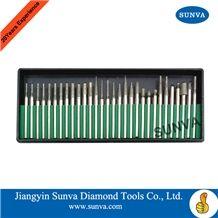 Sunva-Sp Diamond Mounted Points 30pcs/Set /Diamond Burrs /Diamond Tools