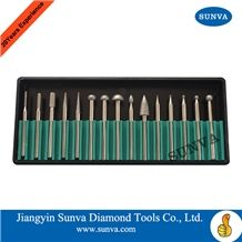 Sunva-Sz-6 Diamond Mounted Points 15pcs/Set
