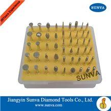 Sunva-Sz-7 Diamond Mounted Points 50pcs/Set