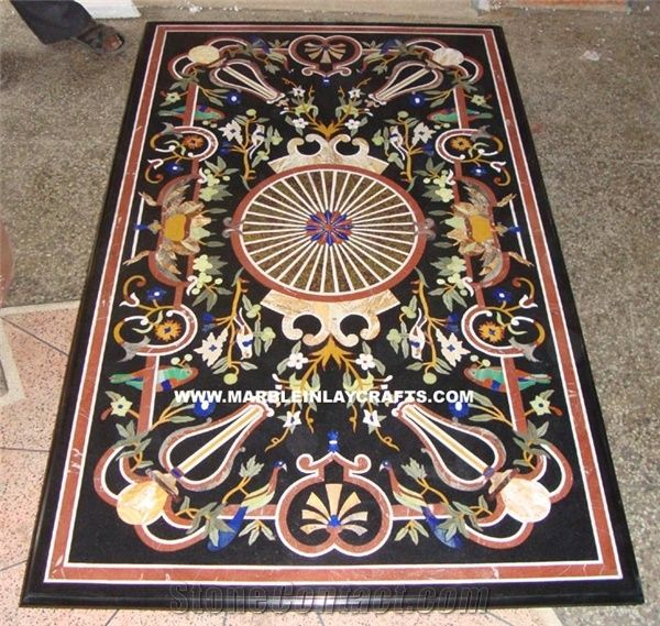 Marble Inlay Dining Pietra Dura Table Top From India Stonecontact Com