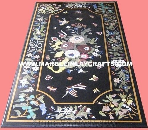 Marble Inlay Dining Table Top From India 496127