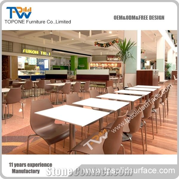 Hot Sale Factory Wholesale Prices Acrylic Solid Surface Dinner Table - Restaurant table price