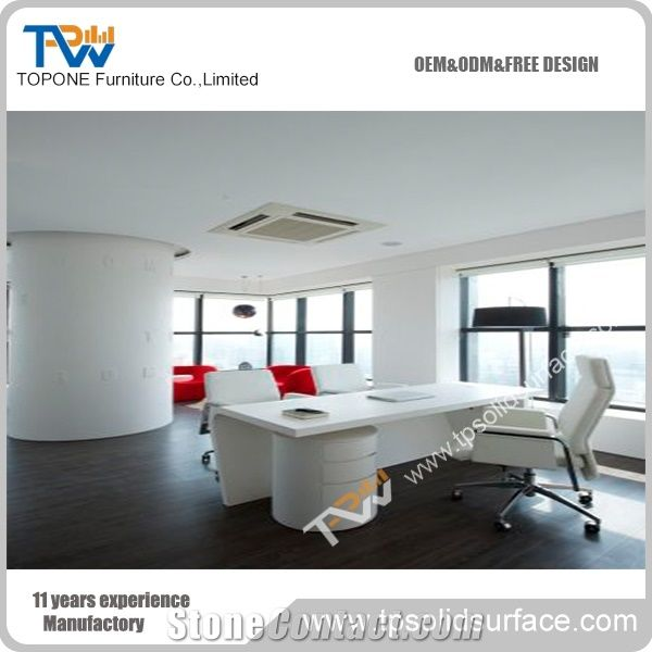 Modern Corian Acrylic Solid Surface Office Table Design ...
