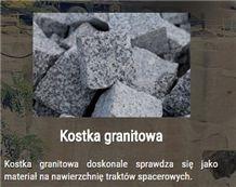 Strzegom Granite Split Face Cube Stone