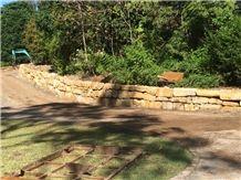 Buff Australian Sandstone Retaining Walls