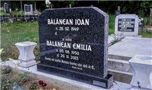 Impala Black Granite Gravestone