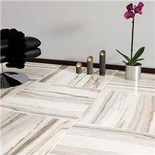 Skyline White Marble Slab, White Marble Tiles & Slabs Turkey, Flooring Tiles