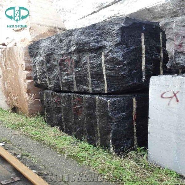 Fonkelnieuw China Black Jade Marble Rough Blocks, Pure Black Marble Block LV-87
