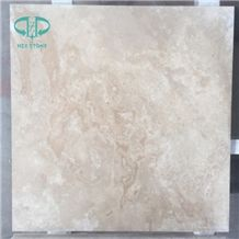 Cross-Cut Beige White Travertine Tiles for Wall and Floor