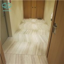 Gold River Marble, White Marble Tile, Wood Vein Marble Tile, White Marble Tiles, Crystal Wood Grain White Marble Slabs & Tiles, Golden River, China Polished Wood Marble, Crystal Wood Grain