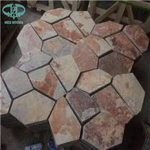 Rusty Slate Random Flagstones,Irregular Flagstones,Flagstone for Patio,Walkway Pavers,Driveway,Wall Cladding,Roofing Tiles,Flooring Tiles,Outdoor Wall Tiles,Paving Stone,Landscaping Flagstone
