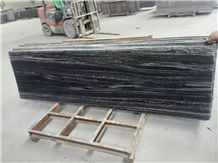 Nero(Negro) Santiago Slabs,Biasca Gneiss,Black Wood Vein Granite,Glazed G302 Grey Negro Big Uncut Slabs&Tiles,Chinese Shandong Dark Grey Landscape Stone,Flooring,Patio Paving,Feature Wall