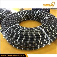 11.5mm Rubber Fixing Diamond Wire Saw for Granite Quarry