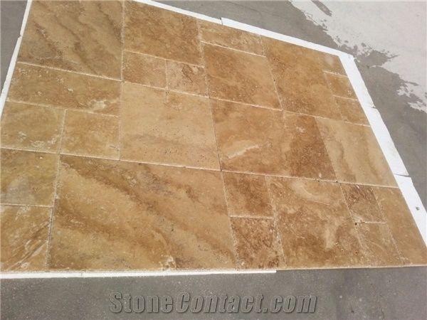 Noce Travertine Slabs Tiles Brown Polished Travertine Turkey Floor