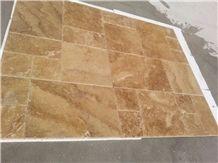Noce Travertine Slabs & Tiles, Brown Polished Travertine Turkey Floor Tiles, Walnut Travertine Wall Tiles
