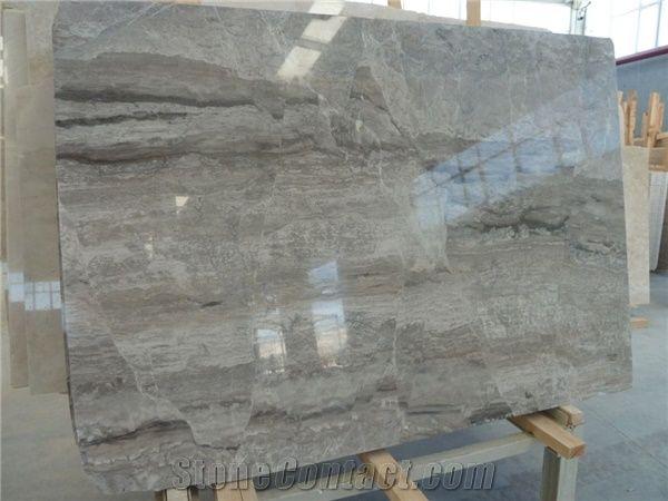 Smokey Grey Line Marble Slab Grey Marble Tile Turkey