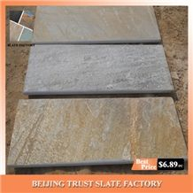 Anti-Slip Stone Pool Coping, Golden Beige Color Pool Pavers, Hanging Rebated Bullnose Pool Coping Paving