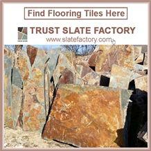Brown Quartzite Stacked Stone Veneer, Quartzite Ledgestone Autumn