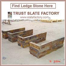 Yellow Quartzite Capping Stone,Golden Quartzite Patio,Desert Quartzite Walling,Cultured Stone