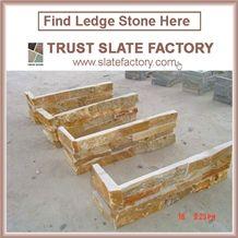 Yellow Quartzite Capping Stone,Sunset Quartzite Patio,Desert Quartzite Walling,Cultured Stone