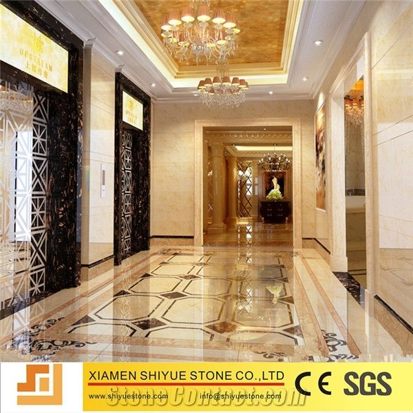 Luxury Tile Flooring Marble Floor Medallion For Lobby With Factory Price Waterjet Cnc Flower Composited