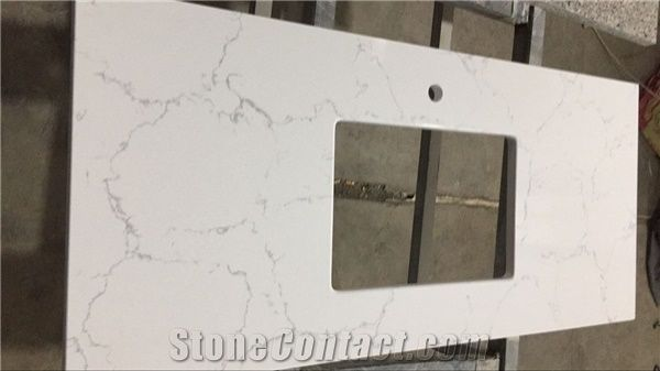Engineered quartz stone mainly and widely used in custom - Engineered stone bathroom countertops ...