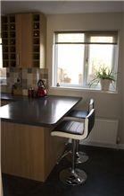 New Color Quartz Stone Kitchen Worktops&Pure Black Absolute Black Quartz Stone Slabs for Kitchen Countertops&Polished Quartz Surfaces Kitchen Countertops&Black Quartz Stone Kitchen Top