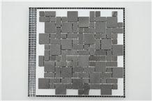 China Basalt Lava Mosaic Tile Honed