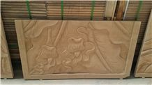 China Yunnan Sandstone Relief & Etching, Wall Reliefs