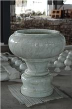 White Jade Marble Decorative Pots for Decoration